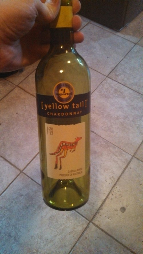 I drank this bottle of wine!